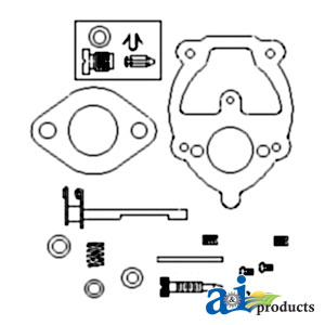 Waters tractor llc carburetor kit ih complete models ih farmall super a super c fits zenith carb 11115 fits oem carb 355485r91 alternate a571505 c509bv zck11 ccuart Image collections